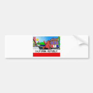 San Francisco California Bear Flag Bumper Sticker