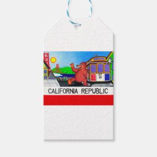 San Francisco California Bear Flag Gift Tags