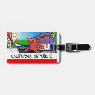 San Francisco California Bear Flag Luggage Tag