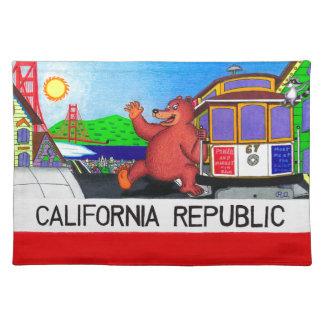 San Francisco California Bear Flag Placemat