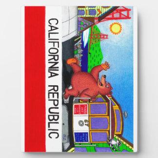 San Francisco California Bear Flag Plaque