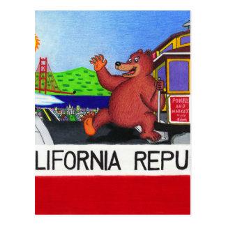 San Francisco California Bear Flag Postcard