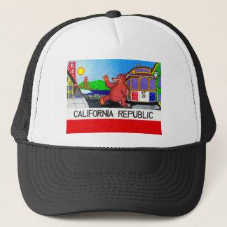 San Francisco California Bear Flag Trucker Hat