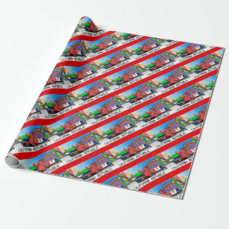 San Francisco California Bear Flag Wrapping Paper