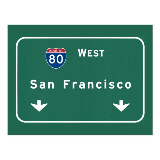 San Francisco California ca Interstate Highway : Postcard