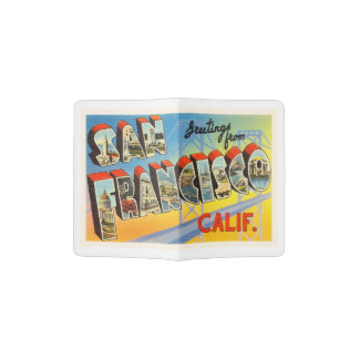 San Francisco California CA Old Travel Souvenir Passport Holder