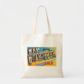 San Francisco California CA Old Travel Souvenir Tote Bag