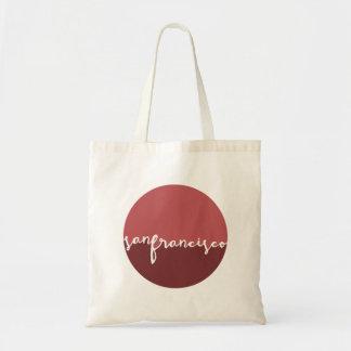 San Francisco, California   Calligraphy Circle Tote Bag
