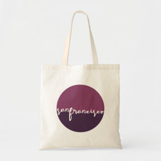 San Francisco California | Calligraphy Circle Tote Bag