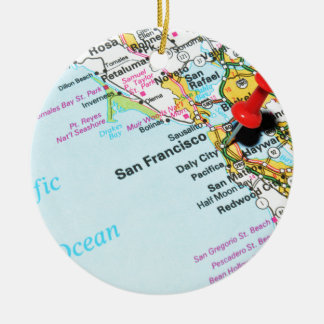 San Francisco, California Ceramic Ornament