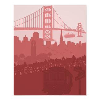 San Francisco California City Skyline Golden Gate Photograph