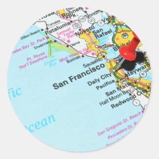 San Francisco, California Classic Round Sticker