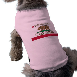San Francisco California Flag Doggy Shirt