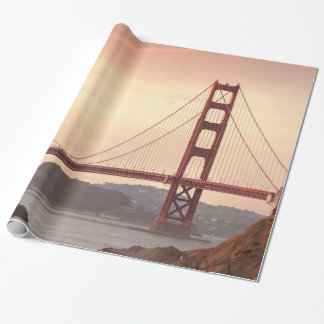 San Francisco California Golden Gate Bridge Photo Wrapping Paper