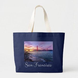 San Francisco California Golden Gate Bridge - USA Large Tote Bag