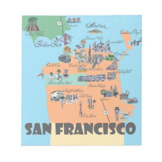 San Francisco California Map Notepad