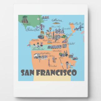 San Francisco California Map Plaque