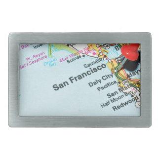 San Francisco, California Rectangular Belt Buckle