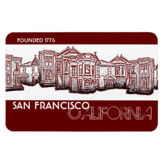 San Francisco California red old town magnet