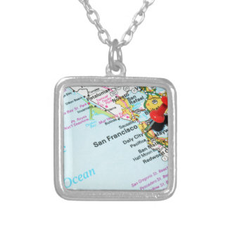 San Francisco, California Silver Plated Necklace