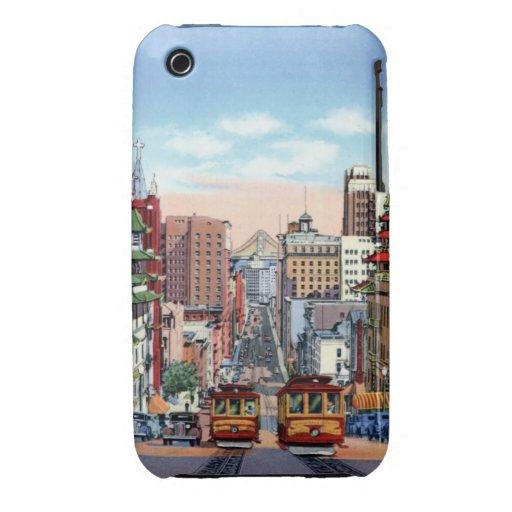 San Francisco California Street cars iPhone 3 Case-Mate Cases