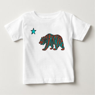 San Francisco California teal bear baby shirt