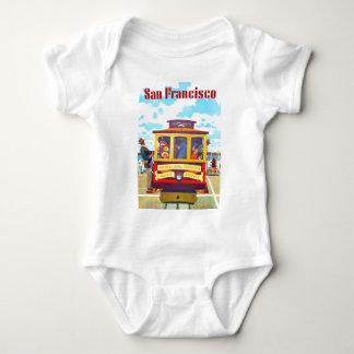 San Francisco California Trolley Car Golden Gate Baby Bodysuit
