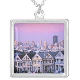 San Francisco, California. View of Victorian Silver Plated Necklace