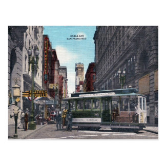 San Francisco, California - Vintage Cable Car Postcard