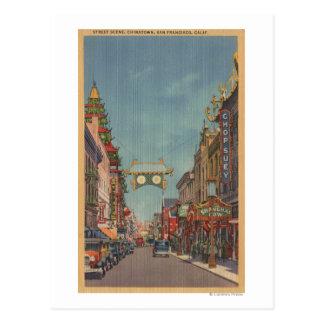 San Francisco, CAStreet Scene of Chinatown Postcard