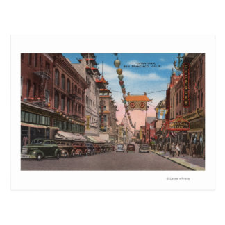 San Francisco, CAView of Chinatown Main Street Postcard