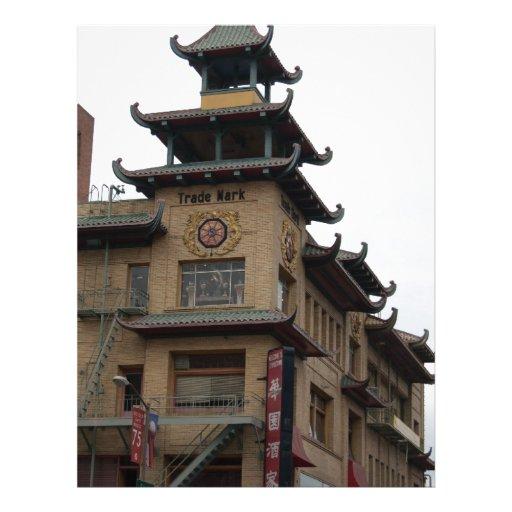 San Francisco Chinatown Architecture Customized Letterhead