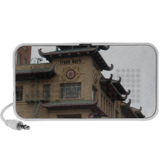 San Francisco Chinatown Architecture Notebook Speakers