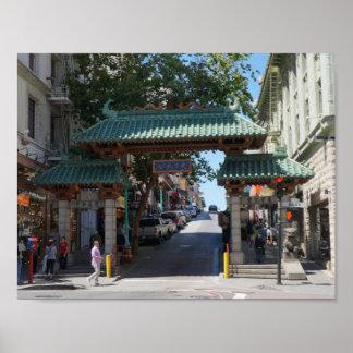 San Francisco Chinatown Gate Poster