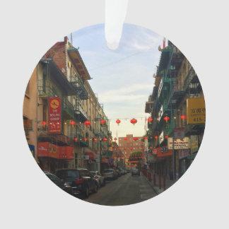 San Francisco Chinatown Lanterns #2 Ornament