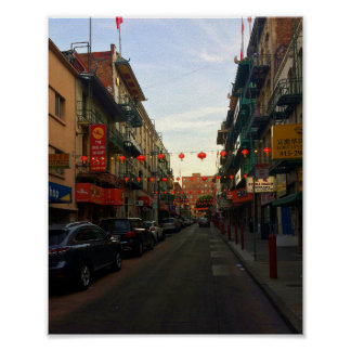San Francisco Chinatown Lanterns #2 Poster