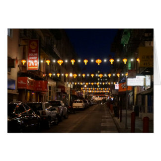 San Francisco Chinatown Lanterns Card