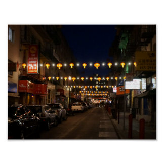 San Francisco Chinatown Lanterns Poster