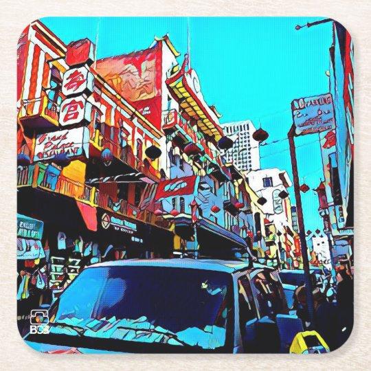 San Francisco Chinatown Paper Coaster