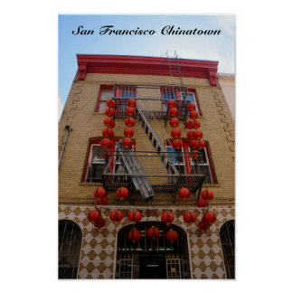 San Francisco Chinatown Temple Poster