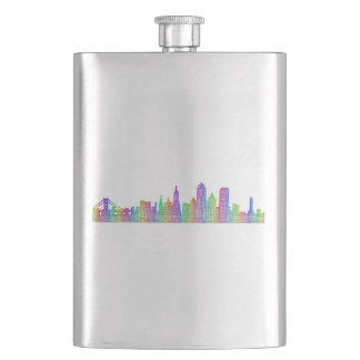 San Francisco city skyline Hip Flask