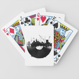 san francisco city skyline vinyl white bicycle playing cards