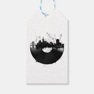 san francisco city skyline vinyl white gift tags