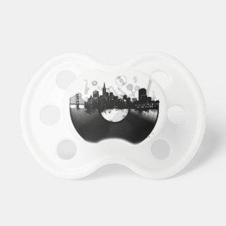 san francisco city skyline vinyl white pacifier