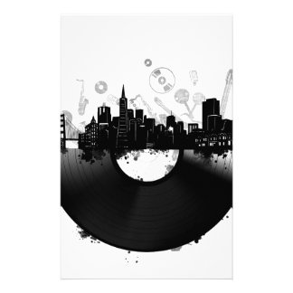 san francisco city skyline vinyl white stationery