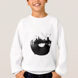 san francisco city skyline vinyl white sweatshirt