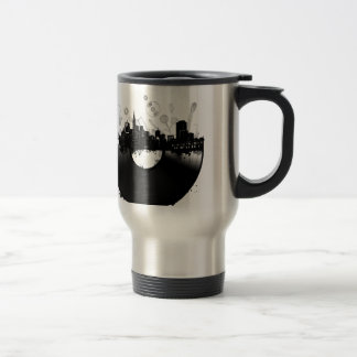 san francisco city skyline vinyl white travel mug