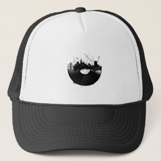 san francisco city skyline vinyl white trucker hat