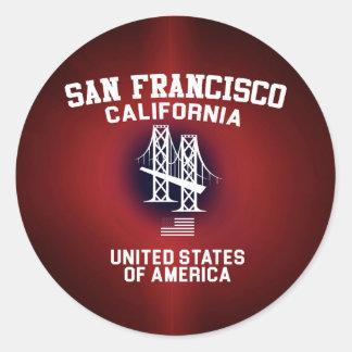San Francisco Classic Round Sticker