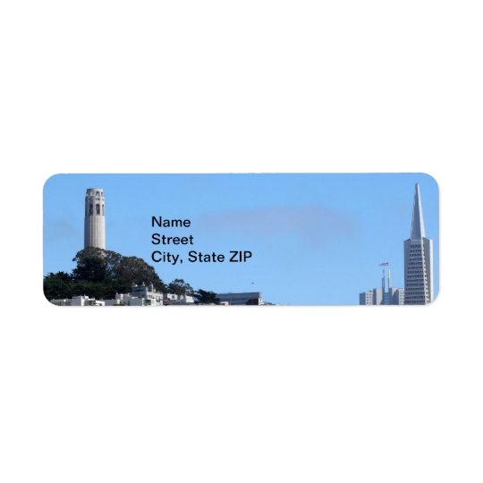 San Francisco Coit Tower Return Address Label